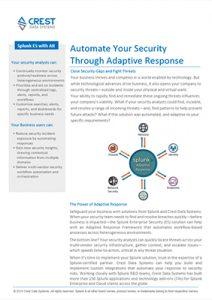 Adaptive Response Data sheet