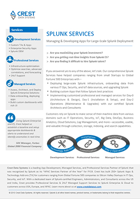 Splunk Services
