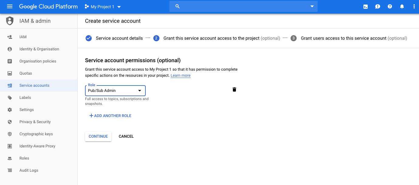 create service account google cloud platform
