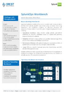 SplunkOps Datasheet Image